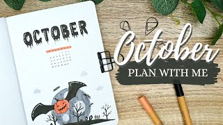 October 2020 | PLAN WITH ME | Bullet Journal Monthly Setup - Halloween Theme