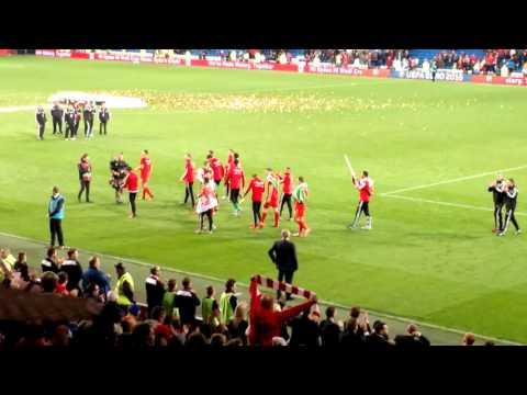 Wales v Andorra Euro 2016 Post Game Lap of Honour