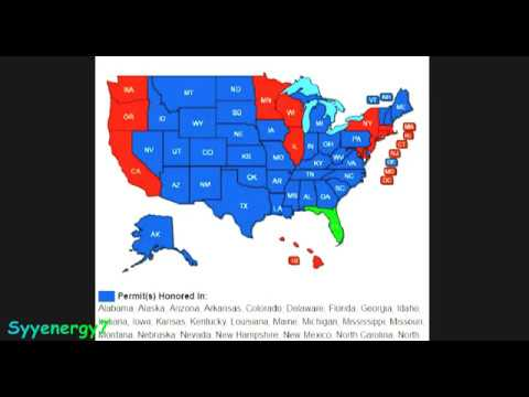 Concealed Carry Reciprocity Displays a Nation DIVIDED