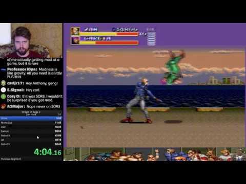 [PB] Streets of Rage 3 Zan [Hard] speedrun (57:01)
