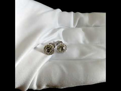 222e3e393e88 Женские серьги пусеты с бриллиантами из белого золота на винтовом замке.  Вес 4 гр. Арт. i2132