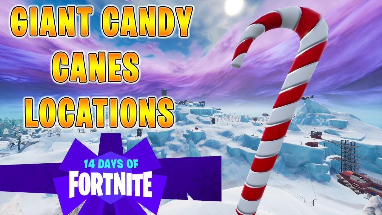 Visit Giant Candy Canes All Locations 14 Days Of Fortnite Event