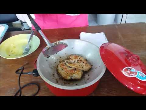 การทำสเต็กไก่พริกไทยดำสลัด