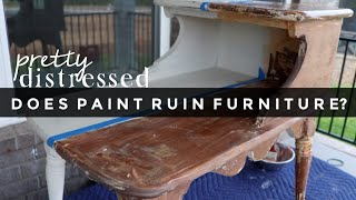 Does Chalk Paint Ruin Furniture? | Removing Paint From Furniture