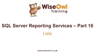 Reporting Services (SSRS) Part 16 - Lists