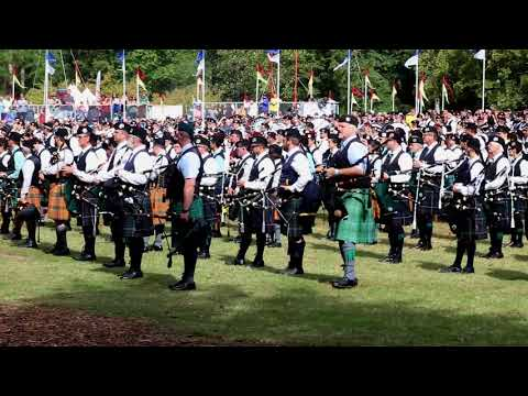 2017 Stone Mountain Highland Games Massed Pipe and Drum Bands