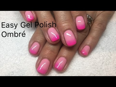 Easy Gel Polish Ombre Design Without Sponge