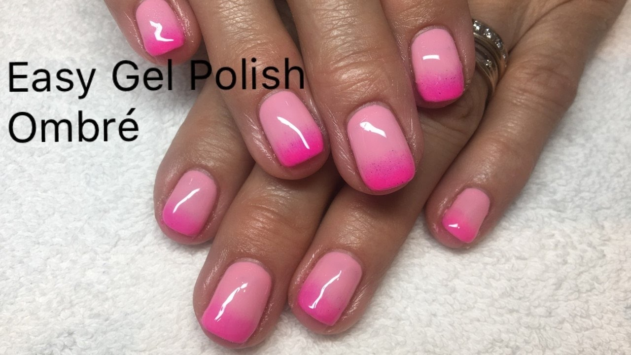 Easy Gel Polish Ombré design without sponge. (not acrylic)
