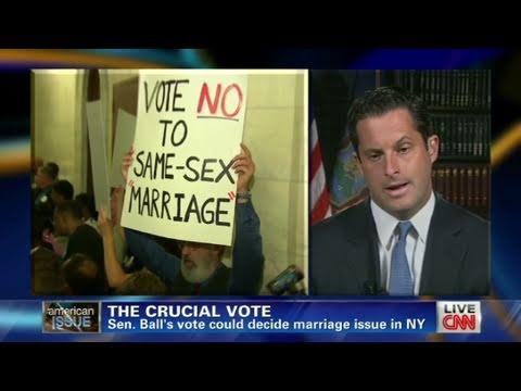 CNN: Senator could decide gay marriage in NY