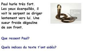 Français C M 2: lecture et compréhension, faire des inférences ou déductions