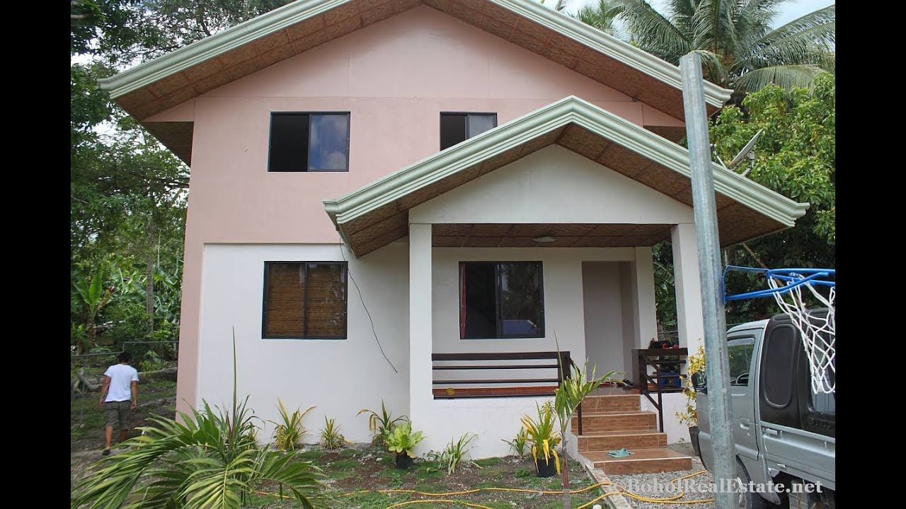 New house and lot for sale cheap near beach panglao bohol for Cheap house design philippines