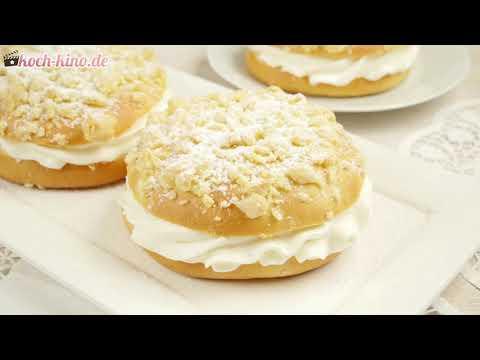 Streuseltaler mit Vanillecreme - Puddingteilchen Rezept wie vom Bäcker