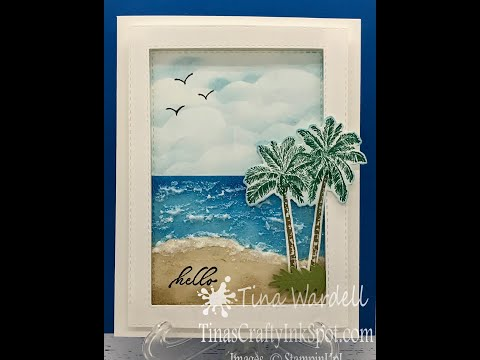 Textured Ocean Card