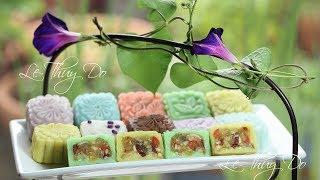 Cách Làm Bánh Trung Thu Dẻo Nhân Thập Cẩm Chay - Colorful Vegan Mooncakes