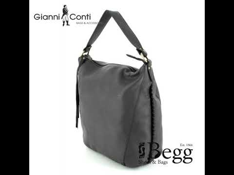 Gianni Conti Bucket Bag 1483744 83 Grey Handbag