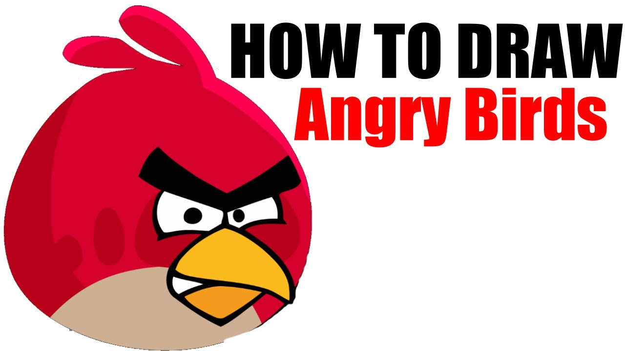 How To Draw Red Angry Birds Step By Step