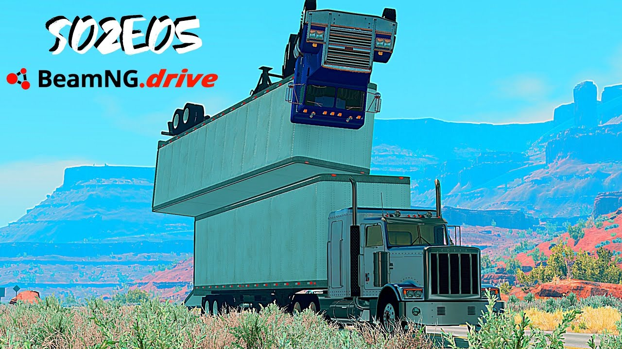 Download Beamng Drive Movie: Epic Chase Leads To Freeway Disaster (+Sound Effects) |Part 15| - S02E05