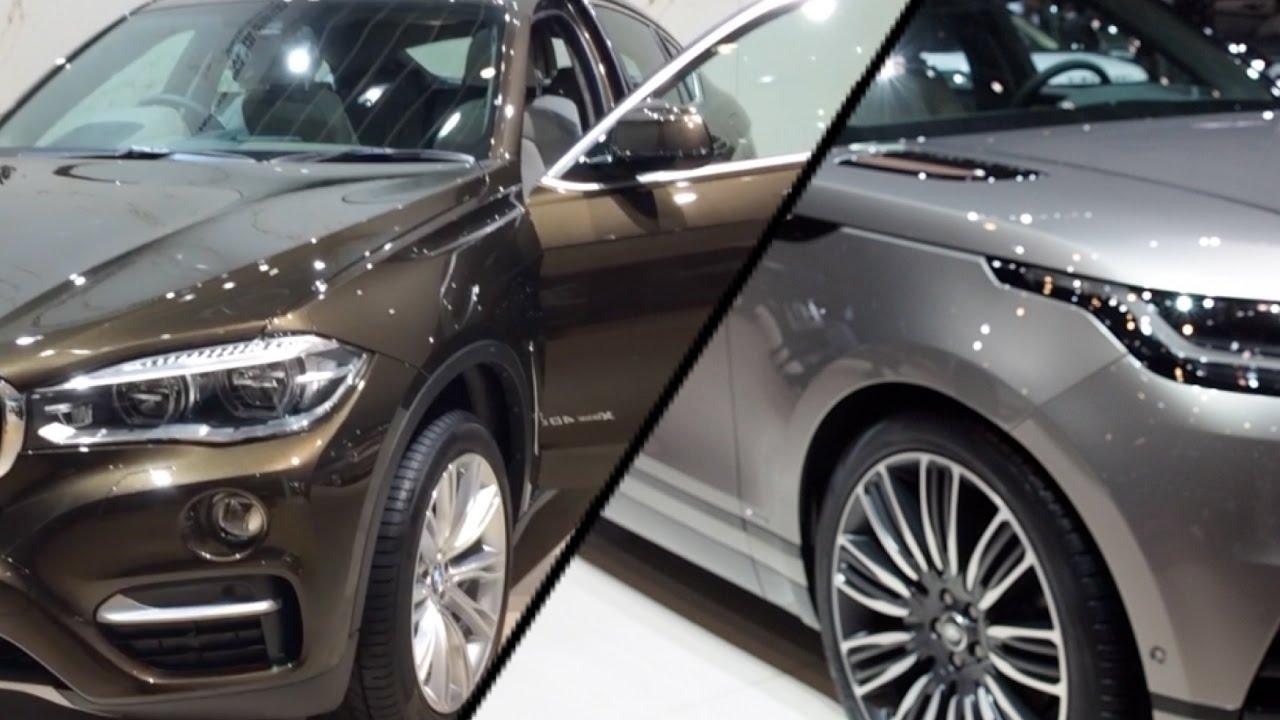 2017 Bmw X6 Vs 2017 Range Rover Velar Youtube