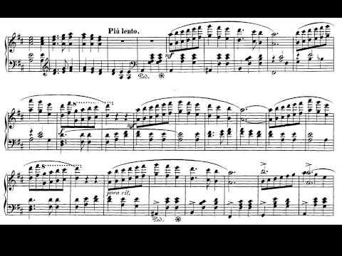 Schumann. Papillons Op. 2 nº 12. Finale. Partitura e Interpretación