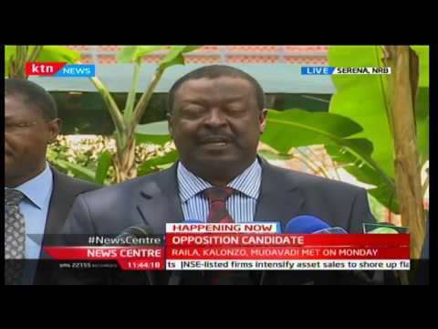 NASA Co-principal Musalia Mudavadi announces their constitution as agreed by the leaders