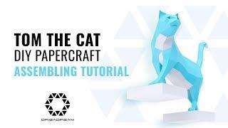 DIY PAPERCRAFT CAT  Mounting Tutorial