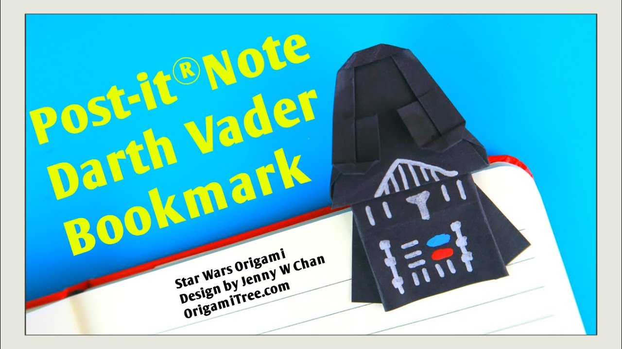 Star Wars Crafts Star Wars Origami Darth Vader Bookmark Craft