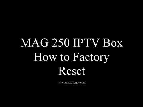 Mag Box Help Tutorials :  MAG250 Factory Reset