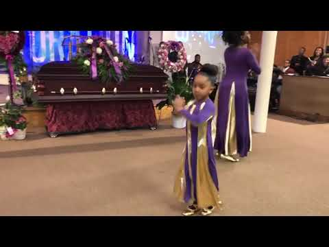 6 Year old praise dancing at her Mothers Home going Celebration