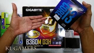 intel Core i3 8100 GIGABYTE B360M D3H 8GB DDR4 A400 240GB TP Link AC1300 Office PC 2019