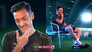 Mesut Ozil reacts to being called a 'lazy player'