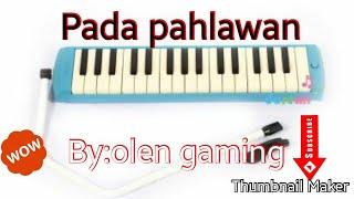 Not angka pianika lagu Pada pahlawan||Olen Gaming