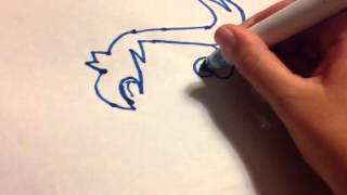 How to draw Fry from Futurama in 2 mins.