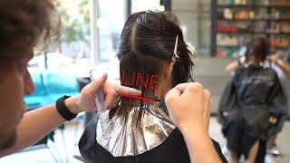 layered bob haircut: how to cut layers, hair tutorial
