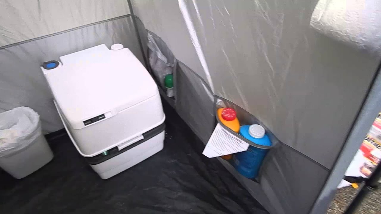 Tent Bathroom Setup