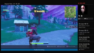 Playing Fortnite Battle Royale Squads