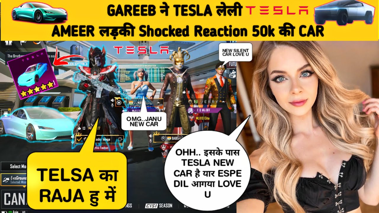 🔥 Random Girls Reaction ON TESLA New Car For $ 50,000 UC 🤣Samsung,A3,A5,A6,A7,J2,J5,J7,S5,S6,S7,S9