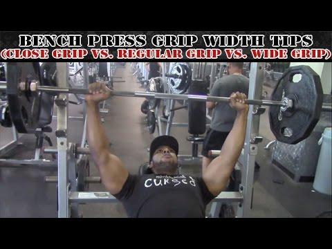 Bench Press Grip Width Tips (Close Grip vs. Regular Grip vs. Wide Grip)