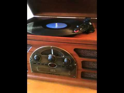 Rolling Stones record playing on the Crosley