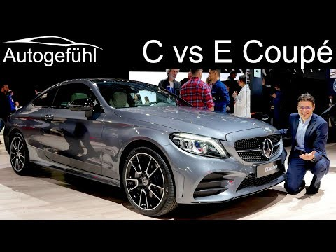 Mercedes C-Class Coupe vs E-Class Coupé comparison REVIEW Facelift 2019 C300 E53 AMG C-Klasse NYIAS