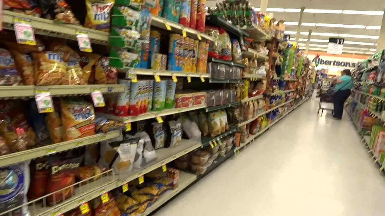 American Grocery Store Food Market Albertsons Usa