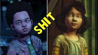 AJ Swear vs Little Clem Swear - The Walking Dead The Final Season