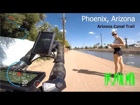 Arizona - Grand Canal Bike Path - Phoenix - 15 miles one way - eBike Tour
