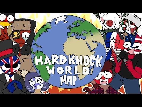 [Countryhumans] HARD KNOCK WORLD | Complete Spoof MAP