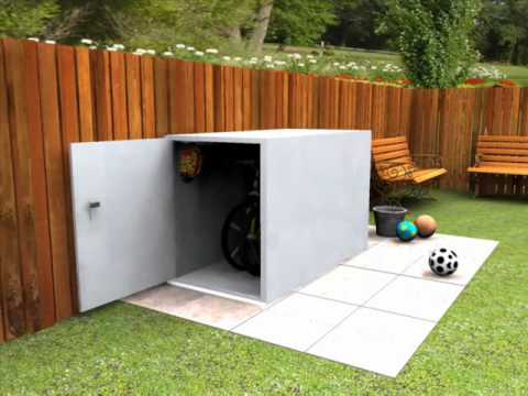 Beau Secure Cycle Storage For 2 Bikes   Keep Your Bikes Stored Safely With This Bike  Shed   YouTube