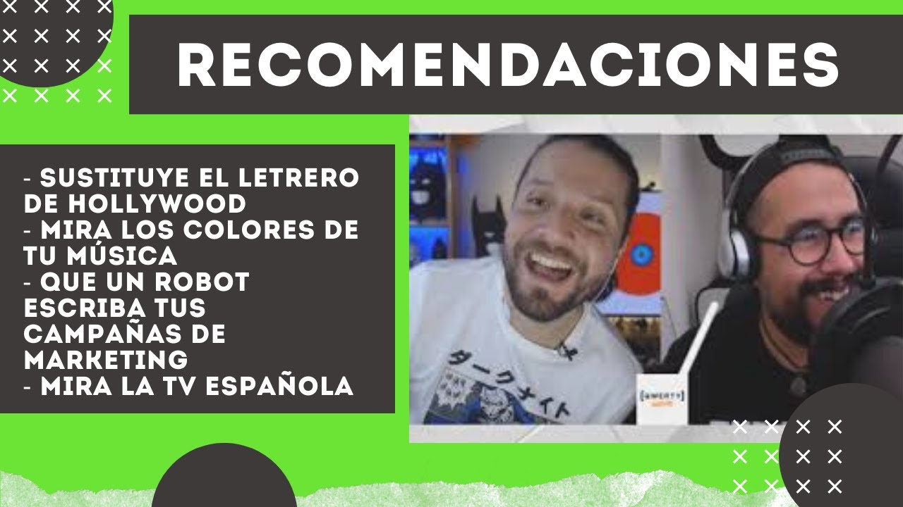 Los colores de tu música, robots que hacen tu chamba de marketing, y TV española - Recomendaciones