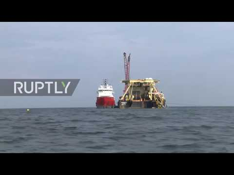 Germany: Nord Stream 2 pipe-laying underway off the Baltic c