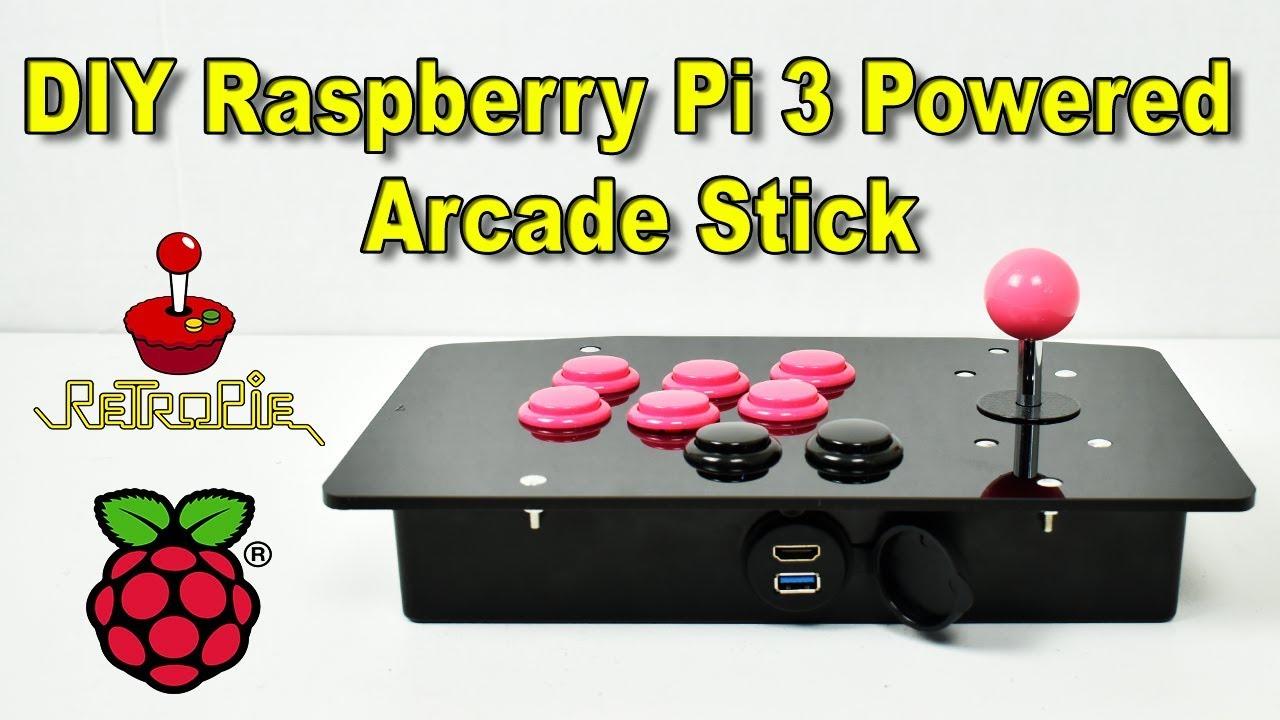 Diy Raspberry Pi 3 Powered Arcade Stick Tutorial Youtube