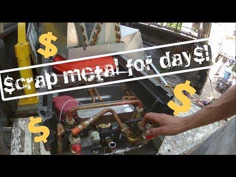 Picking up HVAC scrap, selling on ebay, and exploring a sunken road!?