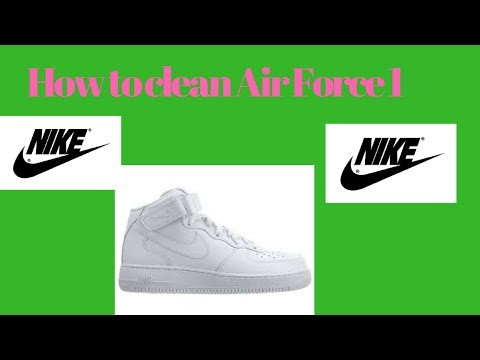 How to clean Air force 1 shoes | mid top restoration and cleaning | clean white shoes