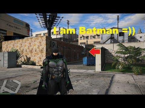 GTA 5 Mod - Biến Thành Người Dơi Batman Đi Bắt Cá Heo =))